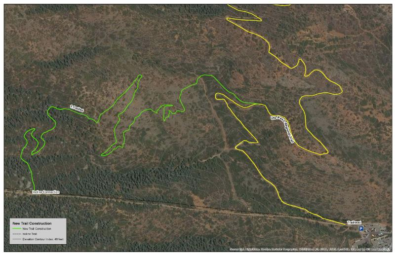Northern Incline Trail map