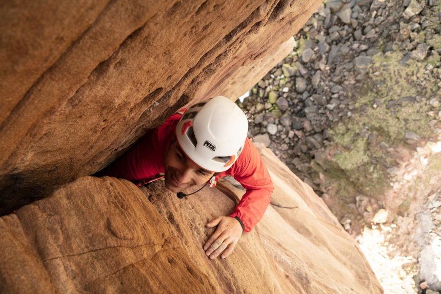 Blind climber Jesse Dufton