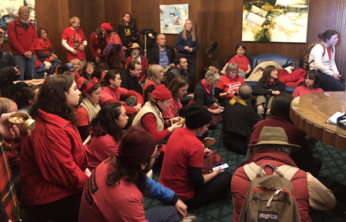 Gov. Kate Brown's office sit-in