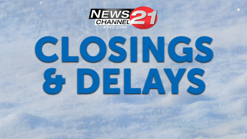 KTVZ closings and delays