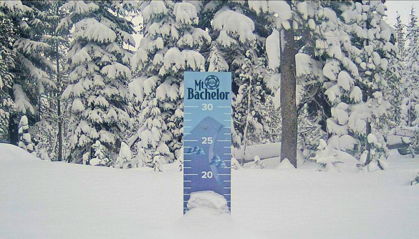 Mt. Bachelor snow stake 1127