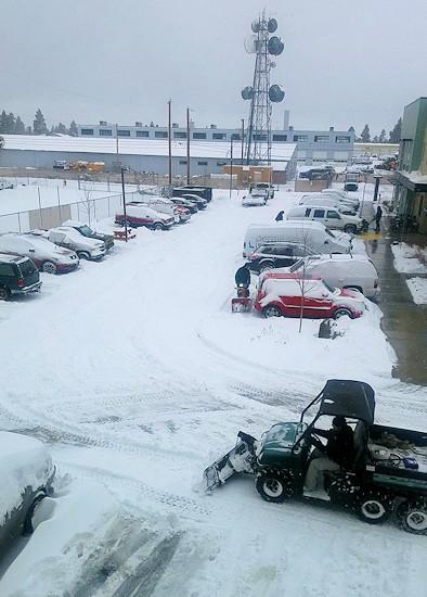 Bethlehem Inn parking lot cleared 1127