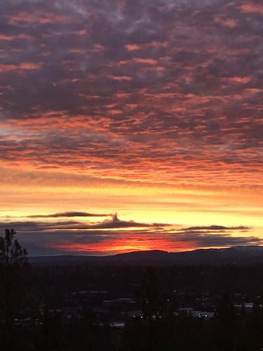 Overturf Butte sunrise Susan Hopkins 1227