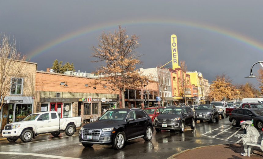 Rainbow downtown Bend Susan Gregory 1212