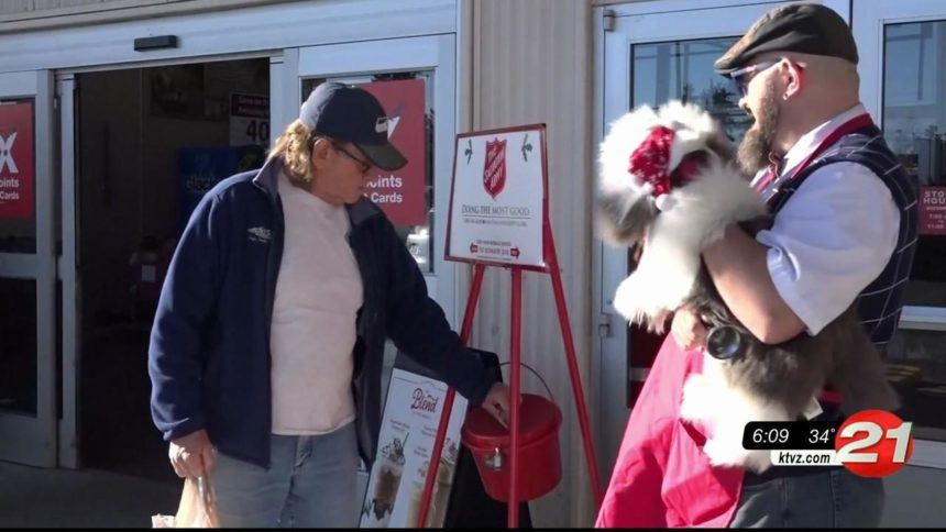 Salvation Army Red Kettle bellringer