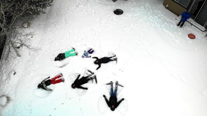 Snow angels drone Renee Creighton 1130