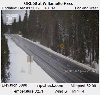 State Hwy. 58 Willamette Pass 1201-1