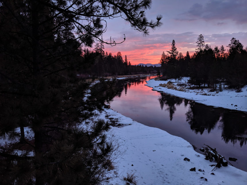 Sunrise Deschutes River Maxwell Bridge Eric Wyman 1206