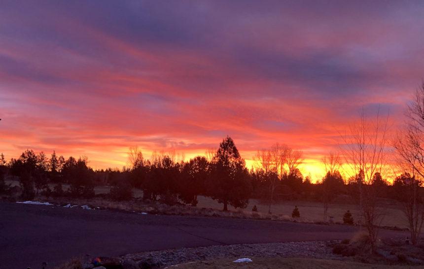 Sunrise west of Redmond Bryan Guthrie 1217