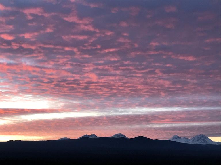 Sunset mtns Frank Debrick 1227