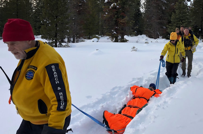 DCSO SAR Meissner XC skier rescue 1-19-1