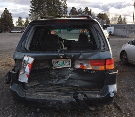 Nissan Rogue in Hwy. 97 crash Bend PD 1-6-2