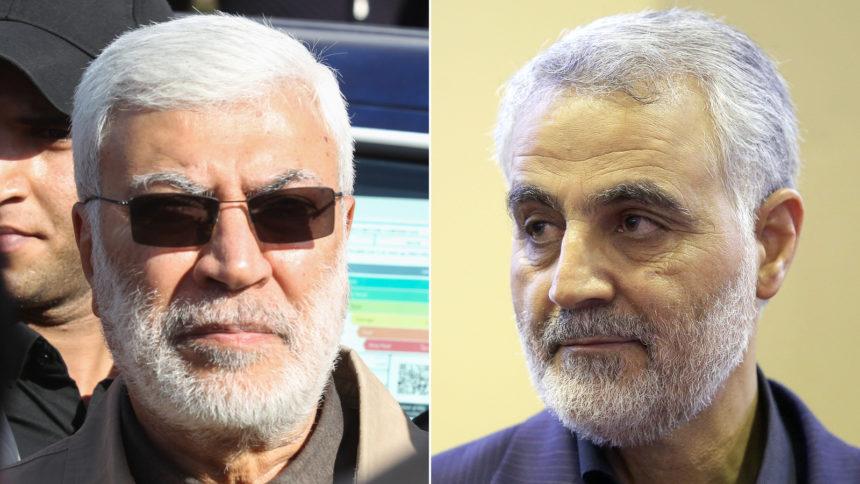 Qasem Soleimani, right, and Abu Mahdi al-Muhandis