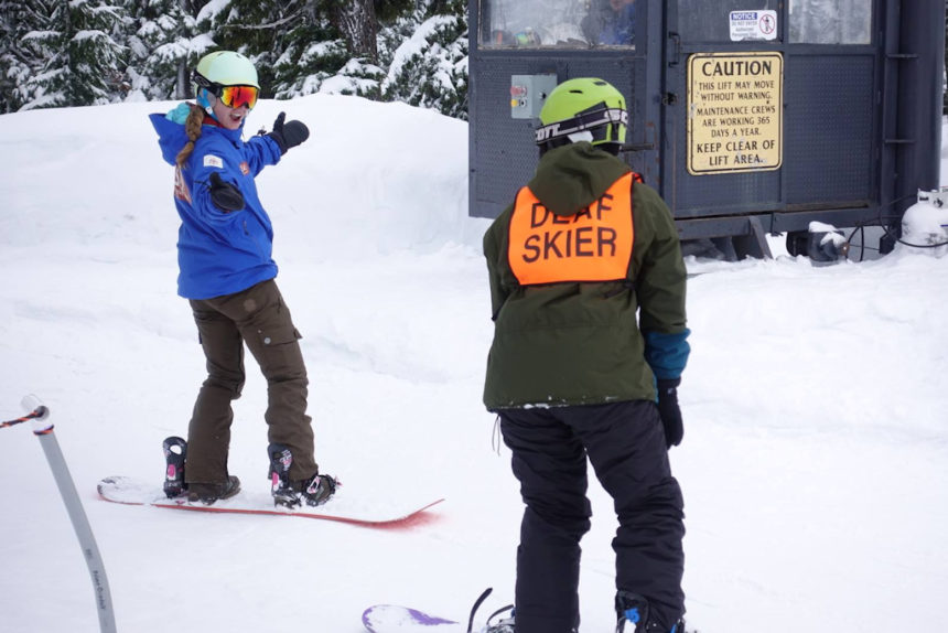 OAS CamPAH deaf hard of hearing skiers boarders Mt. Bachelor