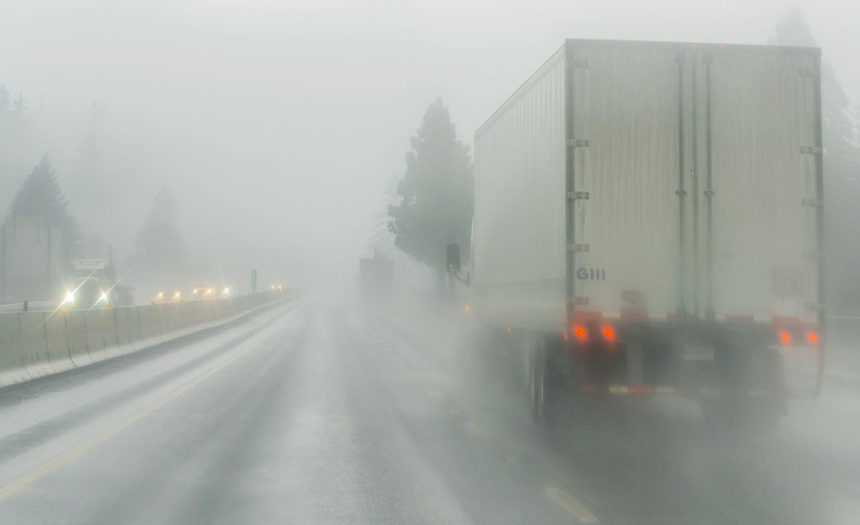 Rainy highway ODOT