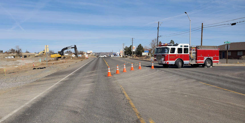 Hwy. 97-26 closure gas leak
