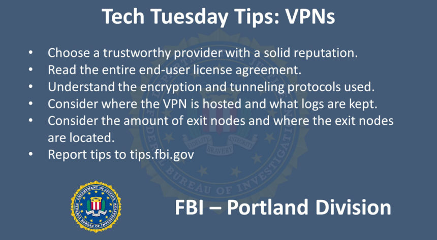 Oregon FBI Tech Tuesday VPNs
