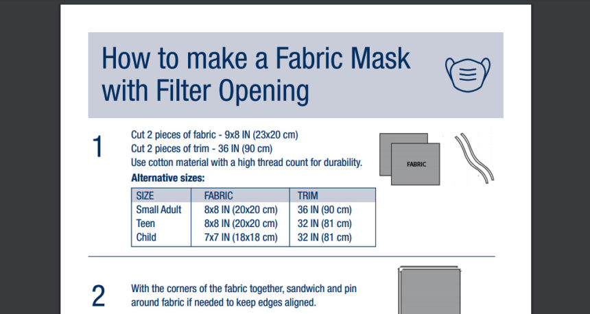 St. Charles mask directions
