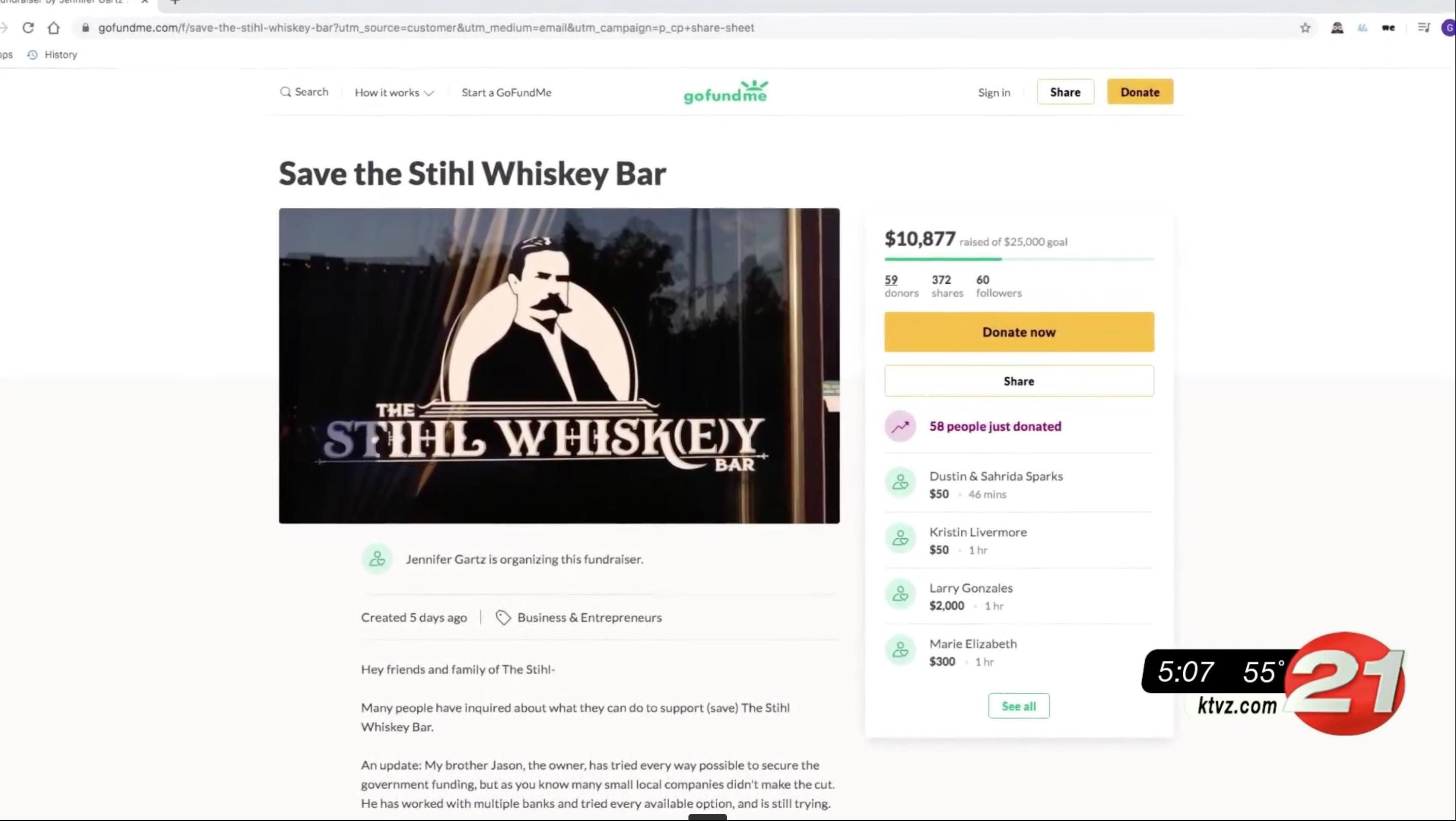 stihl whiskey gofundme