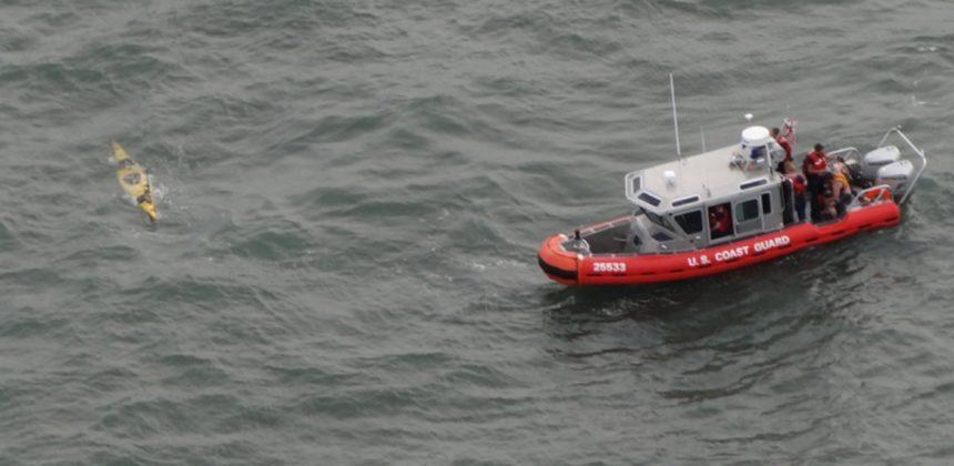 Capsized kayaker NJ Coast Guard
