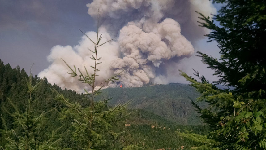 Stouts Creek wildfire SW Oregon