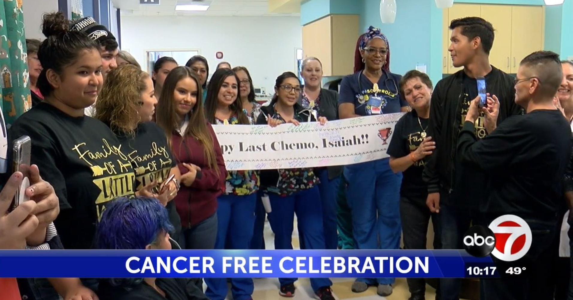 isaiah hernando cancer free