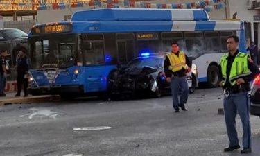 police bus crash