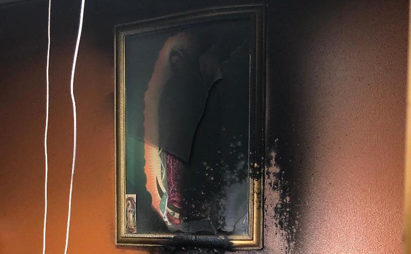 church-wall-fire-damage