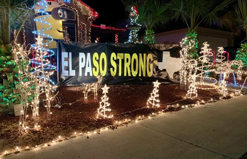 El Paso Strong house decorated
