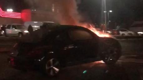 VW Bug fire