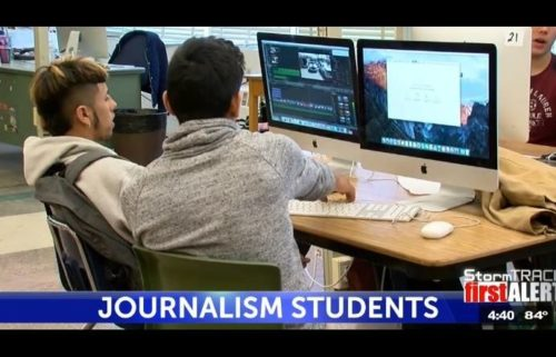 irvin journalism students
