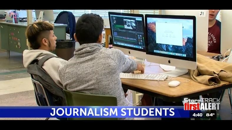 irvin journalism students