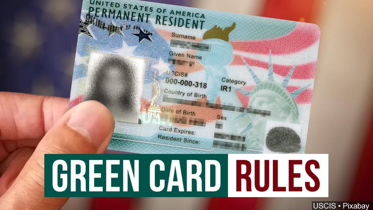 green card rules