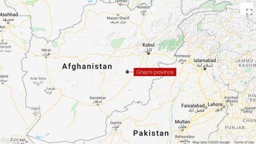 Afghanistan plane crash map