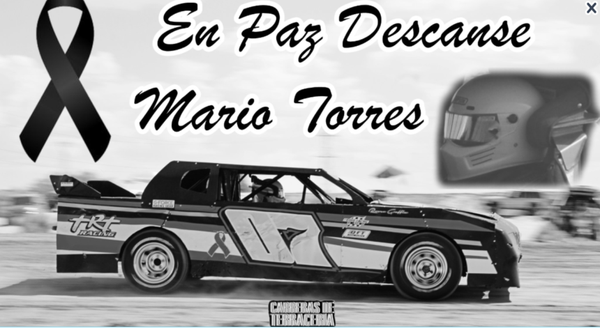 Mario Torres' race car courtesy Carreras De Terraceria