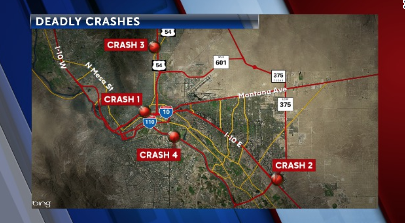 Deadly crashes map