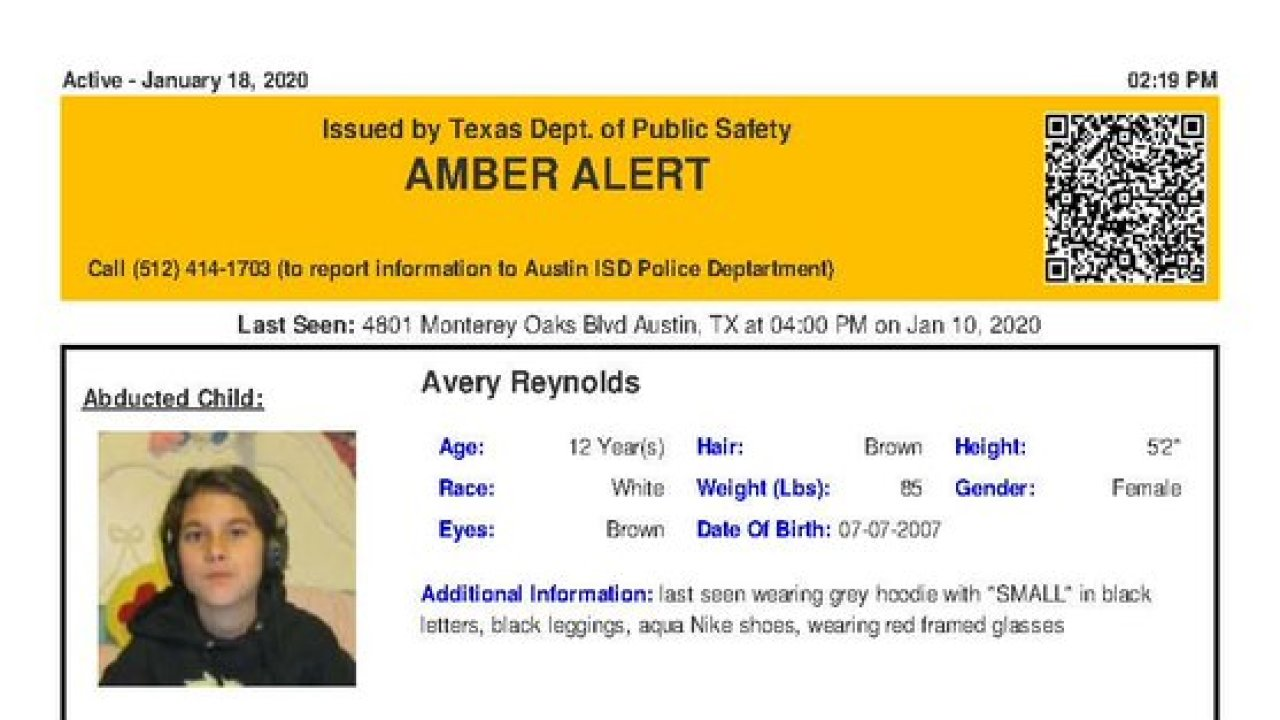 Amber Alert issued for 12-year-old abducted Texas girl believed to be in grave danger - KVIA