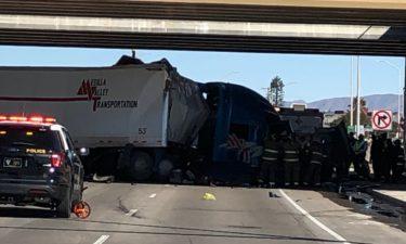las cruces semi-truck crash