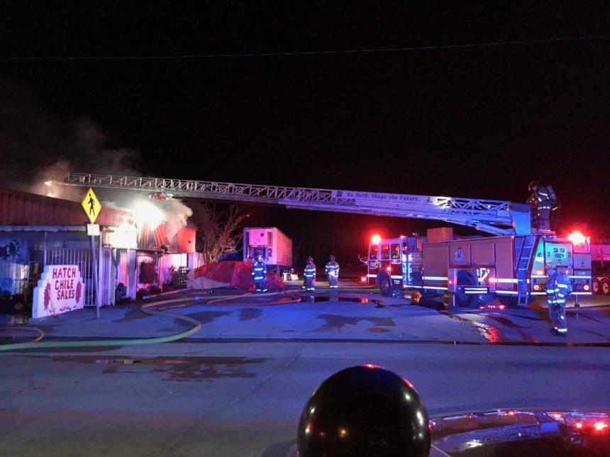 Fire destroys Hatch Chile Sales building in Hatch - KVIA