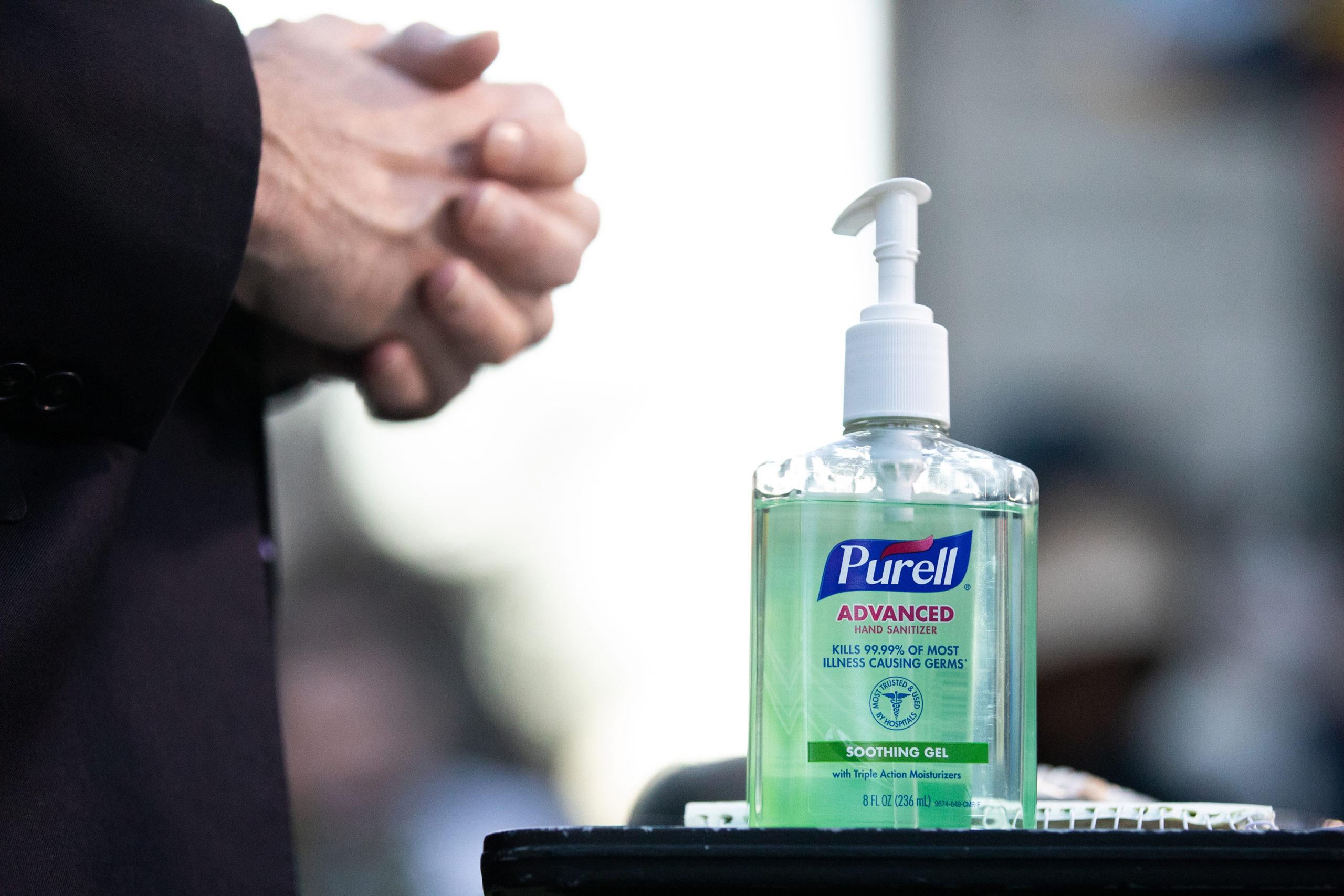 bottle of hand-sanitizer