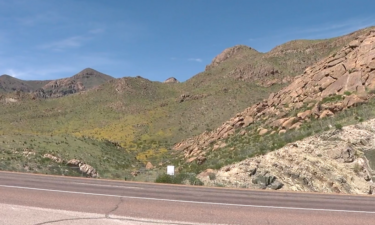 The Franklin Mountains and Transmountain Road