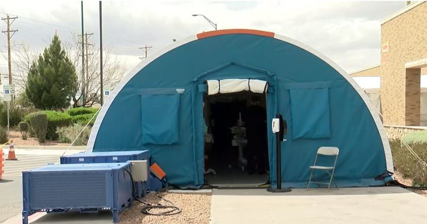 Tents outside UMC for COVID-19 screening