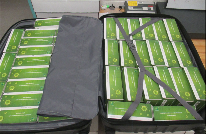 counterfeit covid test kits