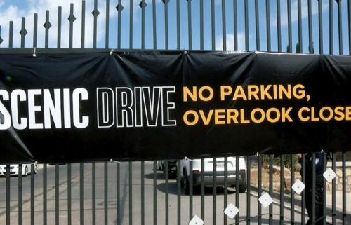 scenic drive closure