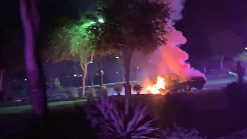 Car fire at Yuma Valley Park