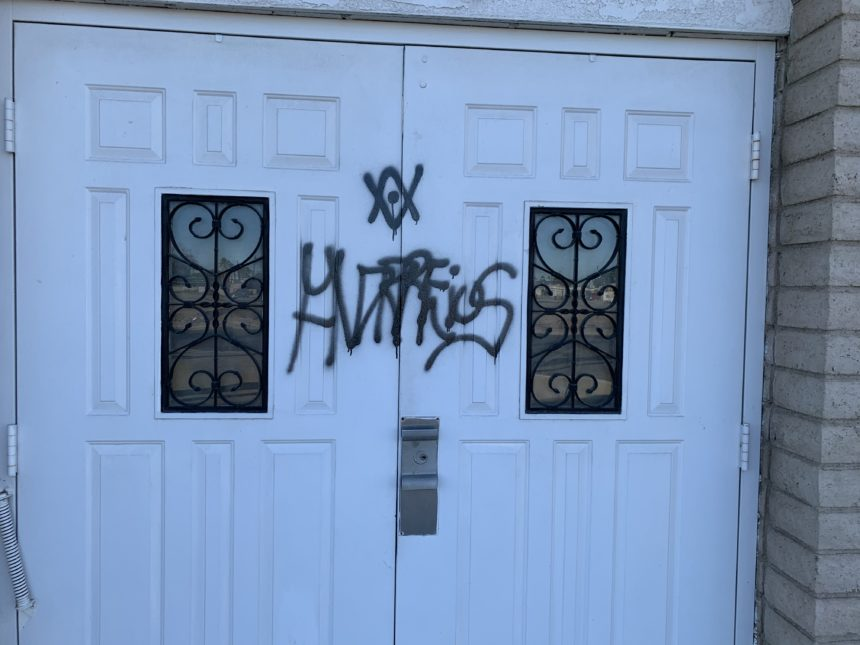 Yuma Christian Academy vandalized with satanic graffiti