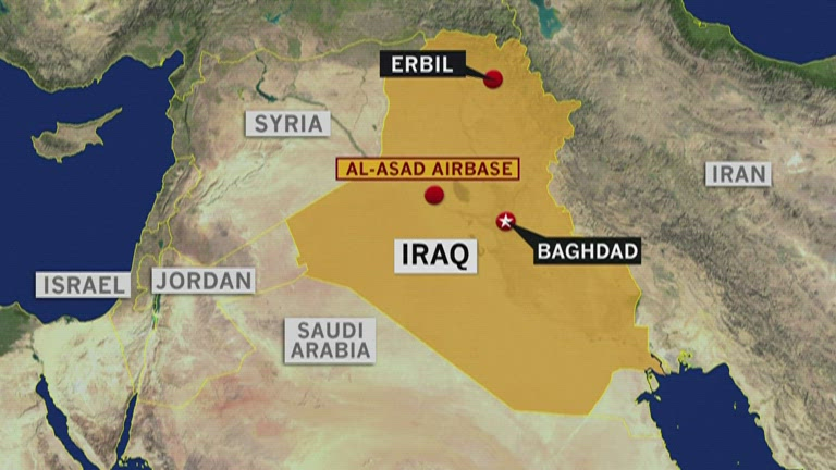 Iran attack map