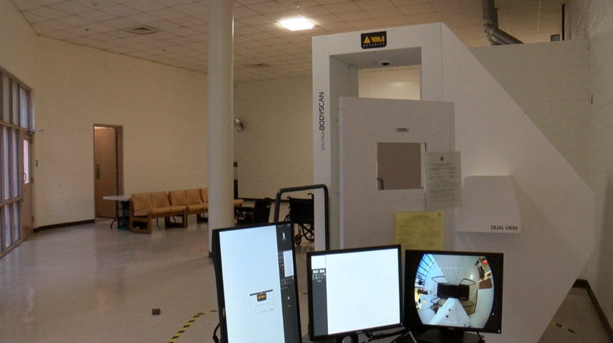 X-ray machine at YCSO Detention Center