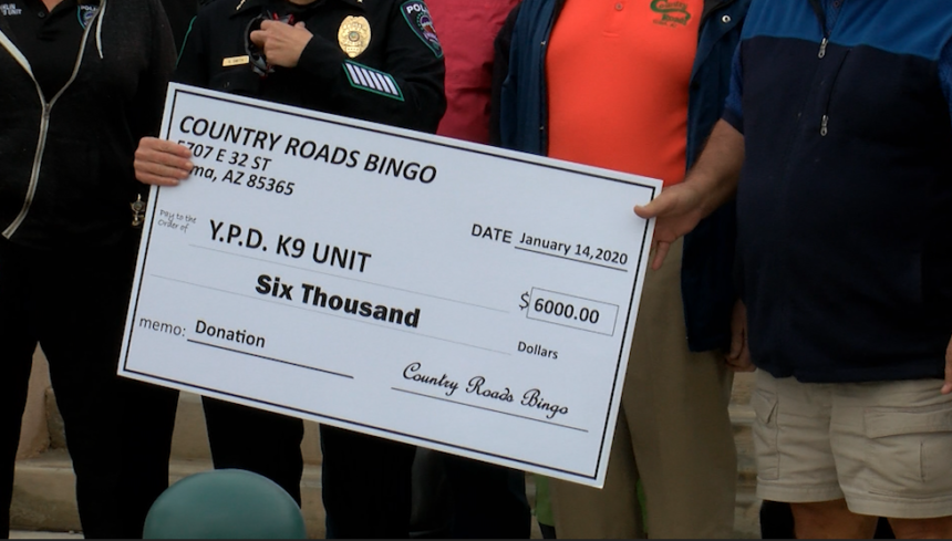 Country Roads Bingo donate to YPD