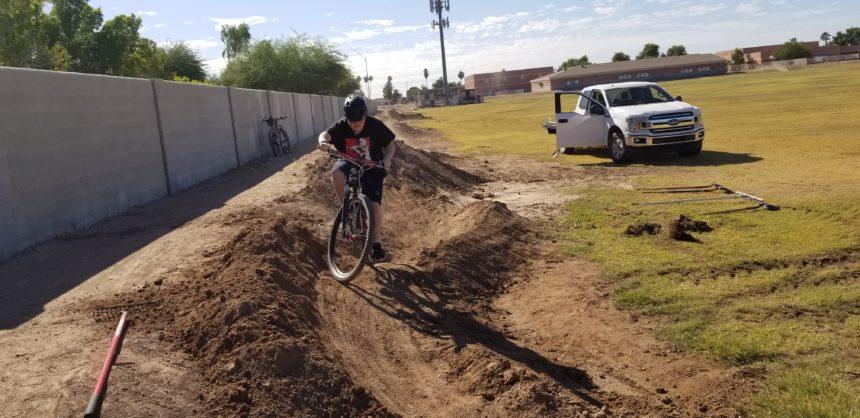 Centennial Middle School bike track